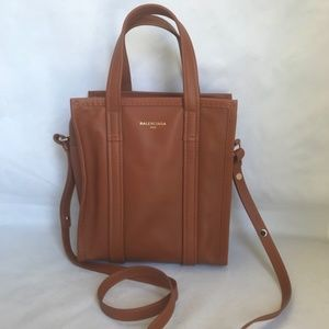 Balenciaga Bazar Shopper Small Tan Leather Tote